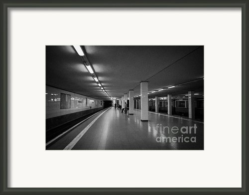 Empty Potsdamer Platz S-bahn Station Berlin Germany Framed Print By Joe Fox