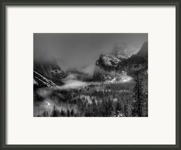 Enchanted Valley In Black And White Framed Print By Bill Gallagher