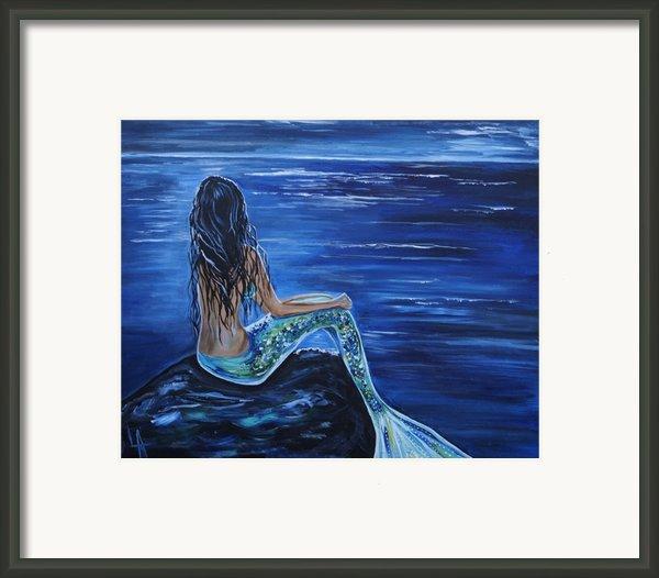 Enchanting Mermaid Framed Print By Leslie Allen
