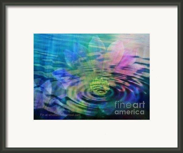 Energy Ripples Framed Print By Painterartist Fin