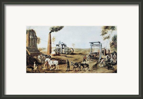 England 18th C.. Industrial Revolution Framed Print By Everett