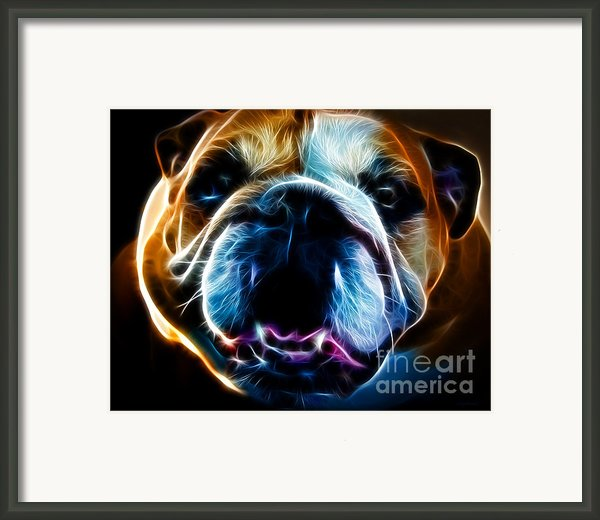 English Bulldog - Electric Framed Print By Wingsdomain Art And Photography