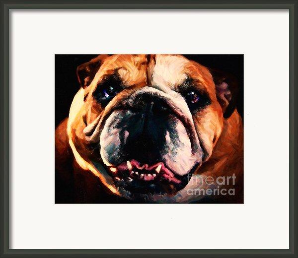 English Bulldog - Painterly Framed Print By Wingsdomain Art And Photography