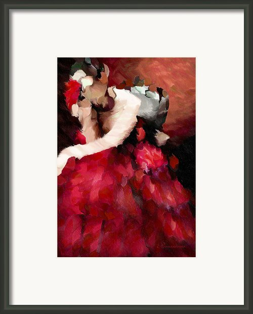 Enigma Of A Geisha - Abstract Realism Framed Print By Zeana Romanovna