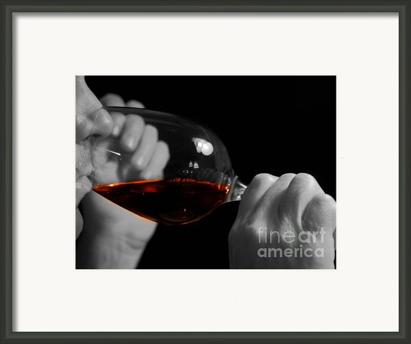 Enjoying Wine Framed Print By Patricia Hofmeester