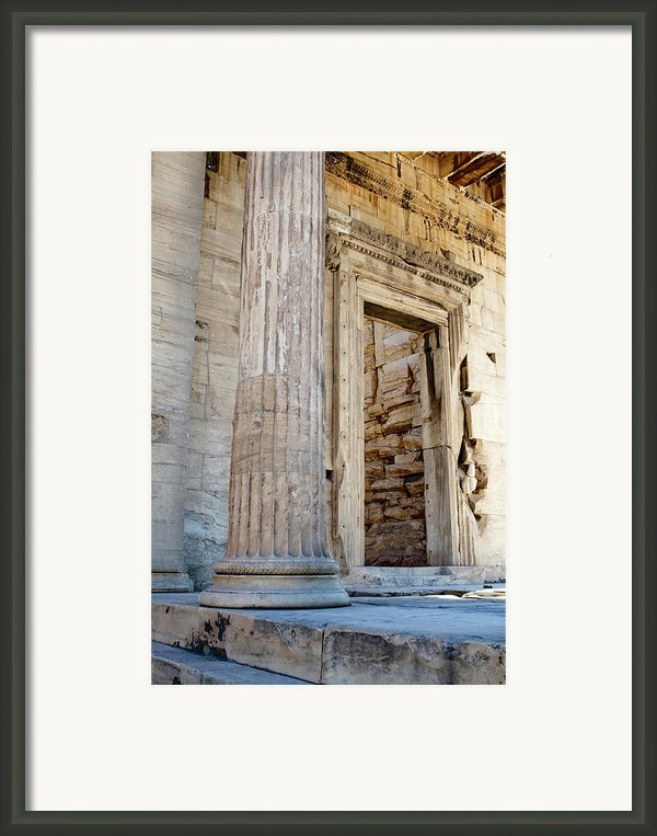 Entrance To The Temple Of The Athena Nike Framed Print By Lorraine Devon Wilke