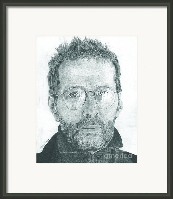 Eric Clapton Framed Print By Jeff Ridlen