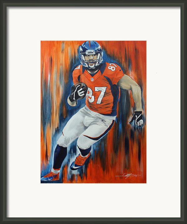 Eric Decker Framed Print By Don Medina