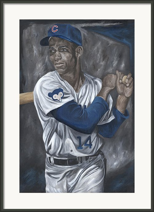 Ernie Banks Framed Print By David Courson