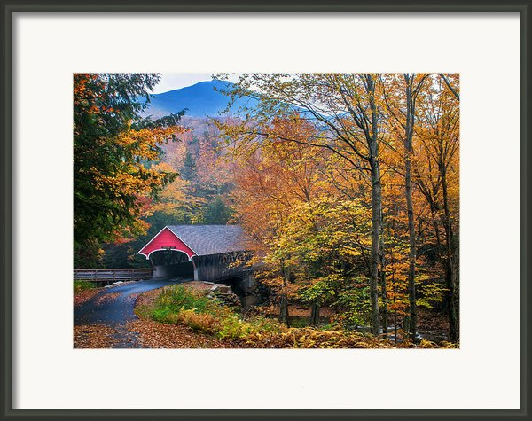 Essence Of New England - New Hampshire Autumn Classic Framed Print By Thomas Schoeller