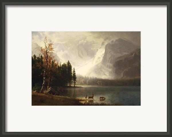 Estes Park Colorado Whytes Lake Framed Print By Albert Bierstadt