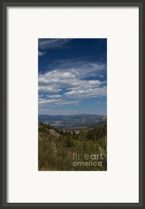 Estes Park In The Valley Framed Print By Kay Pickens