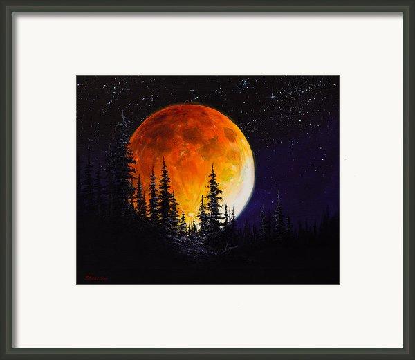 Ettenmoors Moon Framed Print By C Steele
