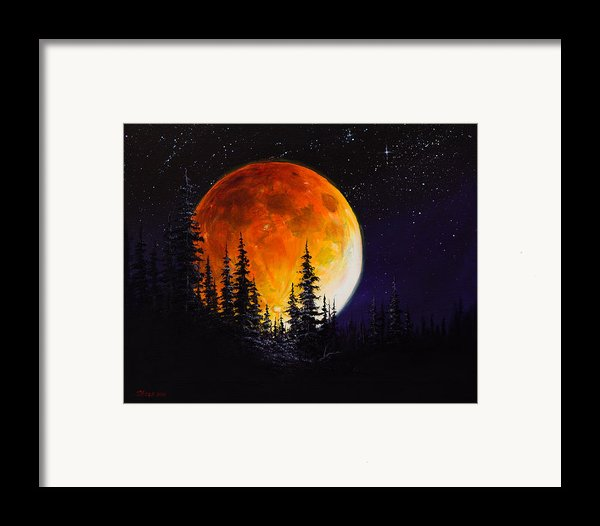 Ettenmoors Moon Framed Print By C Steele