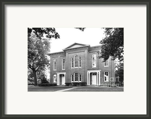 Eureka College Burrus Dickinson Hall Framed Print By University Icons