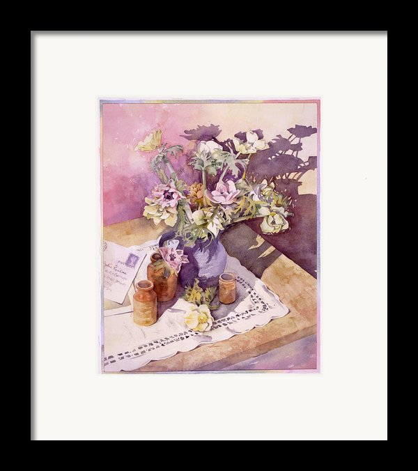 Evening Anemones Framed Print By Julia Rowntree