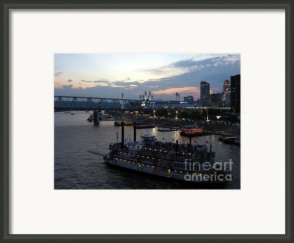 Evening On The River 2 Framed Print By Mel Steinhauer