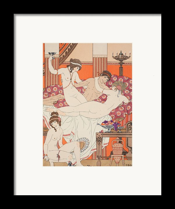 Excess Of Wine And Women Framed Print By Joseph Kuhn-regnier