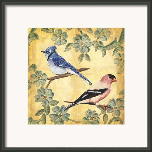 Exotic Bird Floral And Vine 1 Framed Print By Debbie Dewitt