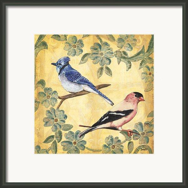 Exotic Bird Floral And Vine 1 Framed Print By Debbie Dewitt
