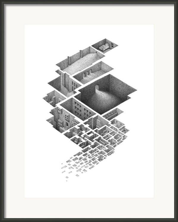 Exploring A Hypnogogic City Framed Print By Mathew Borrett