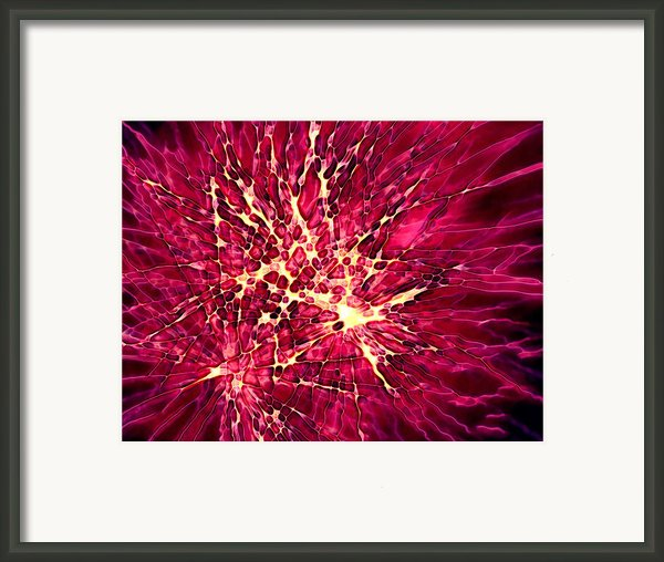 Explosion Framed Print By Stephanie Hollingsworth
