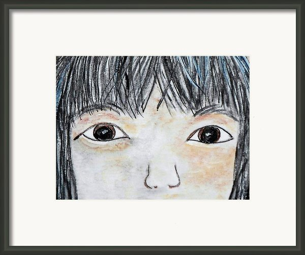 Eyes Of Love Framed Print By Eloise Schneider