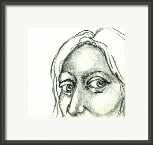 Eyes - The Sketchbook Series Framed Print By Michelle Calkins