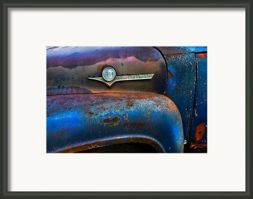 F-100 Ford Framed Print By Debra And Dave Vanderlaan