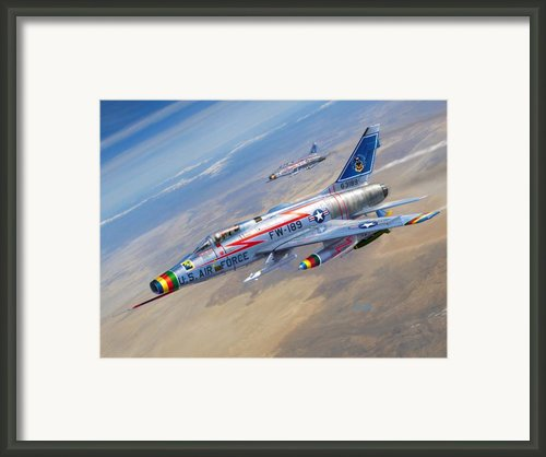 F-100d Sharpening The Sabre Framed Print By Stu Shepherd