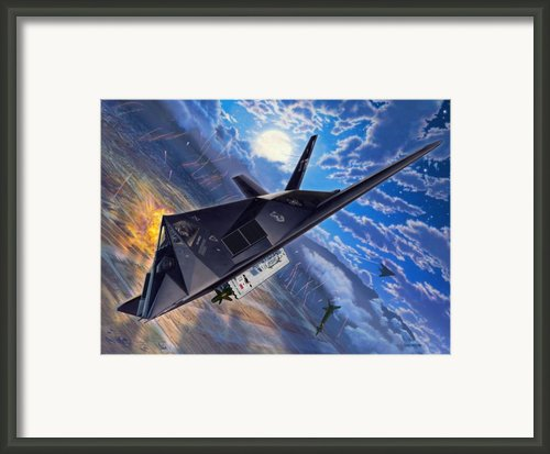 F-117 Nighthawk - Team Stealth Framed Print By Stu Shepherd