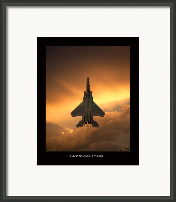 F-15 Eagle Framed Print By Larry Mcmanus
