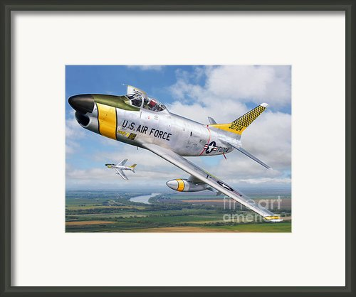 F-86l Of The 82nd Fis Framed Print By Stu Shepherd