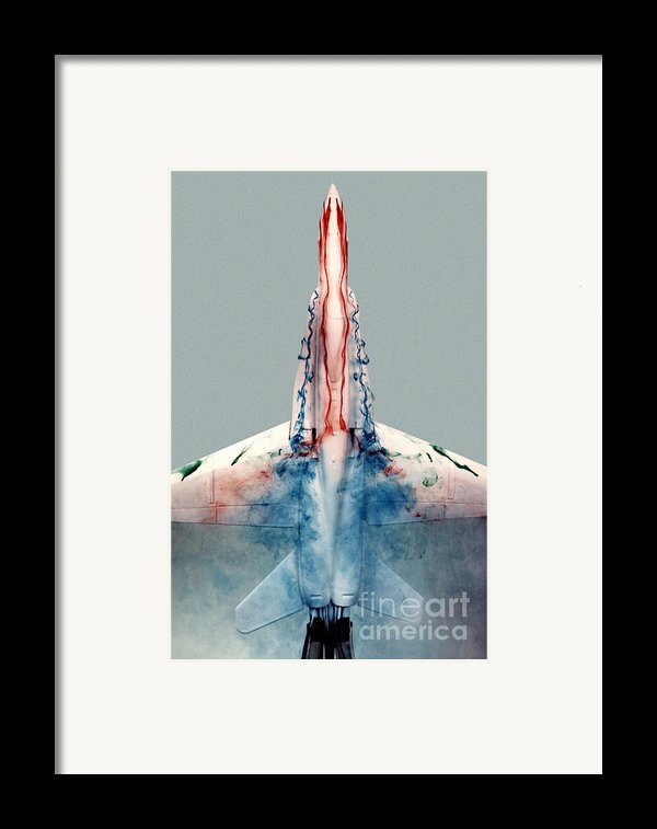 F18 Aerodynamics Framed Print By Nasa Dfrc
