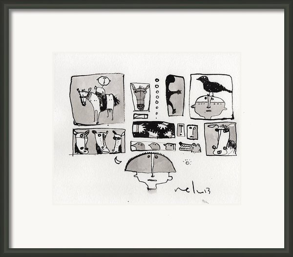 Fabula No. 1  Framed Print By Mark M  Mellon