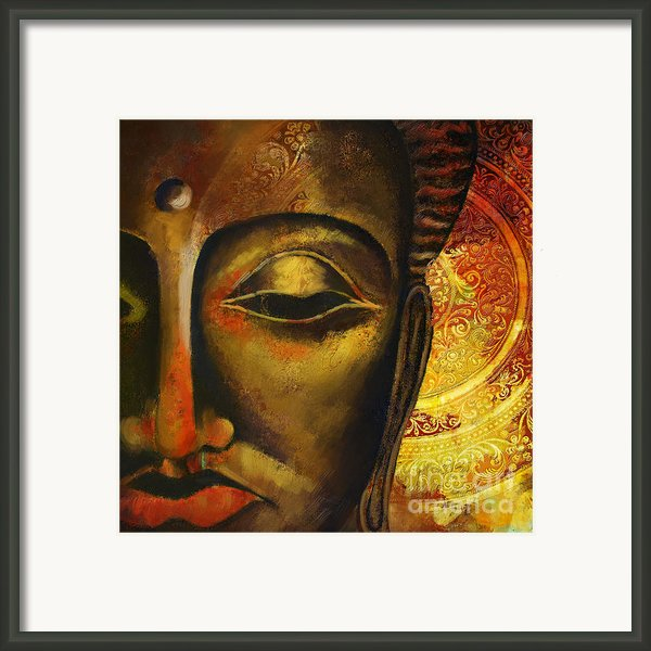 Face Of Buddha  Framed Print By Corporate Art Task Force