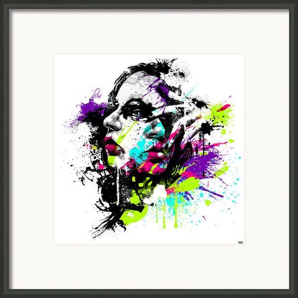 Face Paint 1 Framed Print By Jeremy Scott