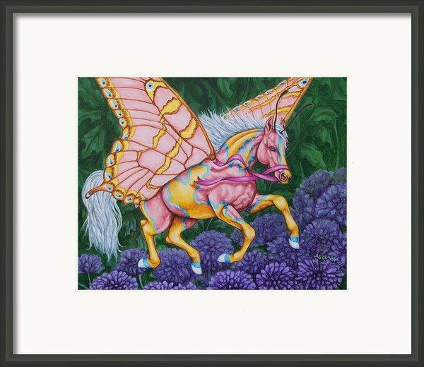 Faery Horse Hope Framed Print By Beth Clark-mcdonal