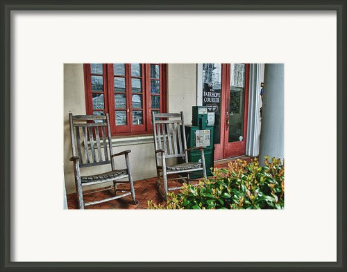 Fairhope Courier Framed Print By Michael Thomas