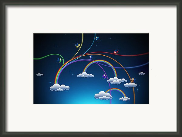 Fairies Made Rainbow Framed Print By Sanely Great
