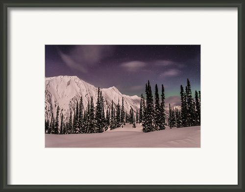 Fairy Meadows Northern Lights Framed Print By Ian Stotesbury