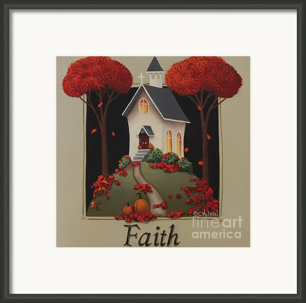 Faith Country Church Framed Print By Catherine Holman