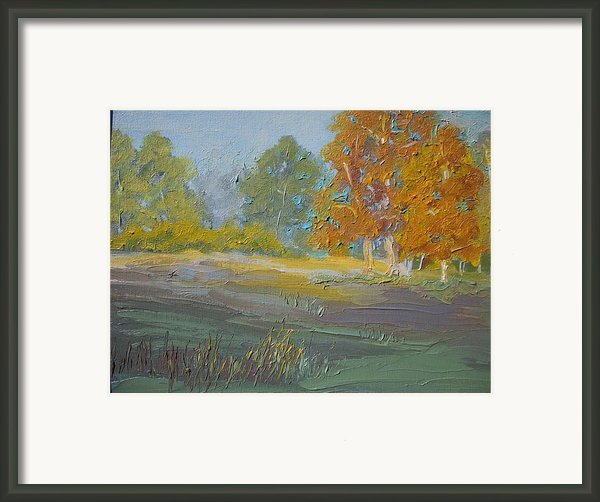 Fall Field Framed Print By Dwayne Gresham