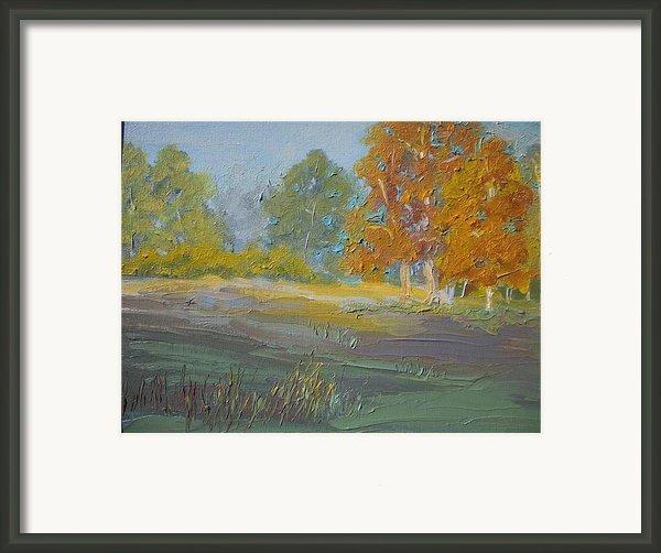 Fall Field Framed Print By Dwayne Gresham