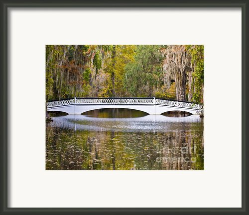 Fall Footbridge Framed Print By Al Powell Photography Usa