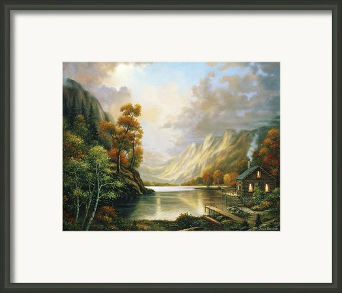 Fall Serene Framed Print By John Zaccheo
