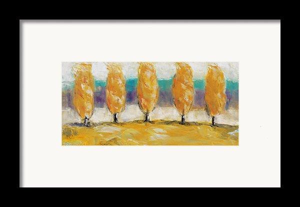 Fall Trees Framed Print By Becky Kim