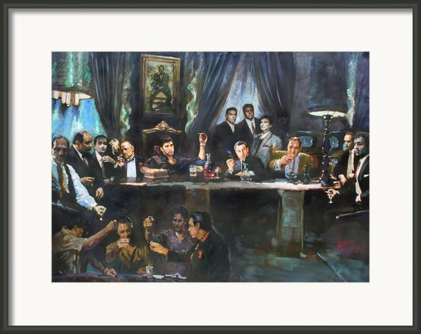 Fallen Last Supper Bad Guys Framed Print By Ylli Haruni