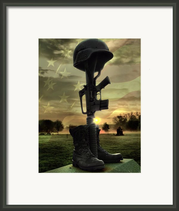 Fallen Soldiers Memorial Framed Print By Jennifer Stone