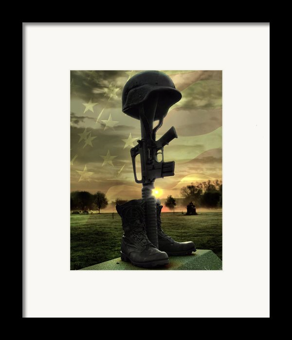 Fallen Soldiers Memorial Framed Print By September  Stone